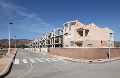 Nieuwe gebouwen en straat Royalty-vrije Stock Foto's
