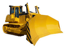Nieuwe gele bulldozer stock foto