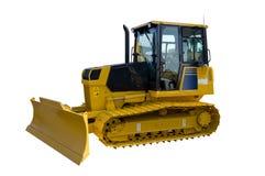 Nieuwe gele bulldozer Stock Foto's
