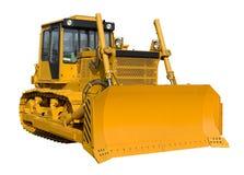 Nieuwe gele bulldozer Royalty-vrije Stock Foto's