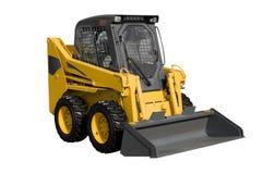Nieuwe gele minitractor stock afbeeldingen