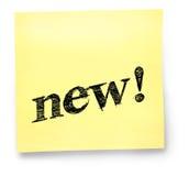 Nieuwe Gele Nota Stock Foto
