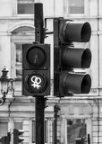 Nieuwe groene signalen in Trafalgar Square in Londen - LONDEN - GROOT-BRITTANNIË - SEPTEMBER 19, 2016 Stock Afbeeldingen