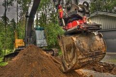 Nieuwe grond voor huistuin in HDR Stock Foto's