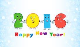 nieuwe het jaar grappige cijfers van 2016 Stock Foto