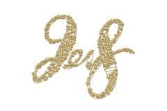 Nieuwe het jaar van 2018 gouden die het van letters voorzien aantalcijfers op witte achtergrond worden geïsoleerd 3D Illustratie Royalty-vrije Stock Afbeeldingen