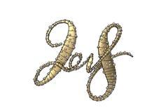 Nieuwe het jaar van 2018 gouden die het van letters voorzien aantalcijfers op witte achtergrond worden geïsoleerd 3D Illustratie vector illustratie