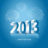 Nieuwe het jaarachtergrond van 2013 met lichten Royalty-vrije Stock Foto's