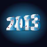 Nieuwe het jaarachtergrond van 2013 met lichten Stock Foto's