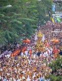 Nieuwe het jaarcultuur van Laos in Laungprabang Stock Foto's
