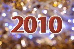 nieuwe het jaardatum van 2010 Royalty-vrije Stock Afbeeldingen