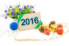 nieuwe het jaardecoratie van 2016 Royalty-vrije Stock Fotografie