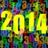 nieuwe het jaarillustratie van 2014 Stock Foto's