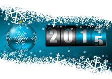 nieuwe het jaarillustratie van 2015 Stock Afbeelding