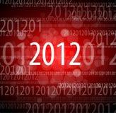 nieuwe het jaarkaart van 2012 Stock Fotografie