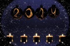 nieuwe het jaarkaart van 2014 Stock Afbeeldingen