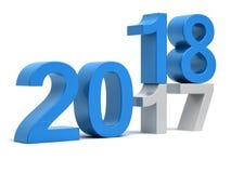 Nieuwe het jaarverandering van 2018 van 2017 Stock Foto's