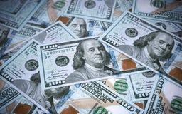 Nieuwe honderd dollarsbankbiljetten stock illustratie