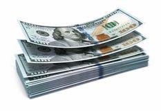Nieuwe honderd dollarsbankbiljetten royalty-vrije illustratie