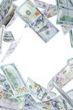 Nieuwe Honderd dollarsdaling Stock Afbeelding