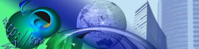 Nieuwe horizonnen en Elektronische handel vector illustratie