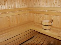 Nieuwe Houten sauna Royalty-vrije Stock Foto's