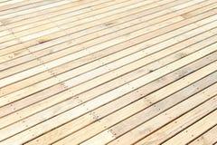 Nieuwe houten vloer stock afbeelding
