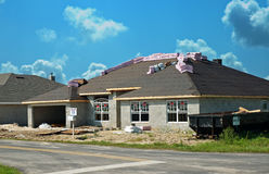 Nieuwe huisbouw Royalty-vrije Stock Foto