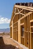 Nieuwe huisbouw Royalty-vrije Stock Afbeeldingen