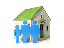 Nieuwe huisvesting voor elke familie vector illustratie