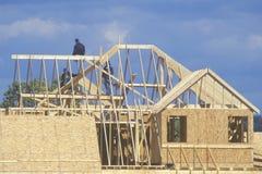 Nieuwe huisvestingsbouw Royalty-vrije Stock Foto's