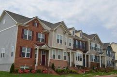 Nieuwe huizen Royalty-vrije Stock Foto's