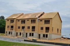 Nieuwe huizen Stock Foto