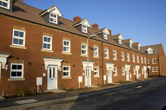 Nieuwe huizen Stock Afbeelding