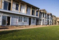 Nieuwe Huizen in aanbouw Stock Foto