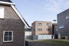 Nieuwe huizen in homerus buurt in Almere Poort in Nederland Stock Foto