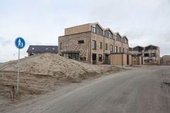 Nieuwe huizen in homerus buurt in Almere Poort in Nederland Royalty-vrije Stock Afbeeldingen