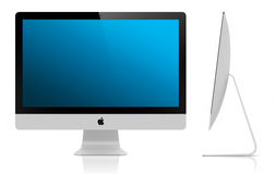 Nieuwe iMac 2012 5mm vertoning Stock Foto's