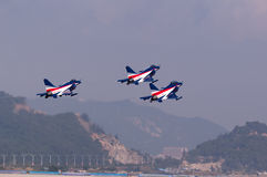 Nieuwe interceptervechter van China - j-10 Stock Foto's