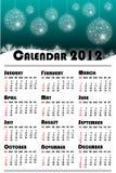 Nieuwe jaar 2012 kalender Royalty-vrije Stock Afbeelding