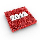 Nieuwe jaar 2013 kalender stock illustratie