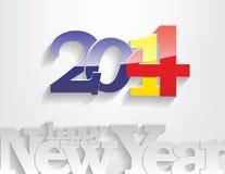 Nieuwe jaar 2014 achtergrond. Stock Afbeeldingen