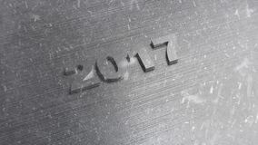 Nieuwe jaar 2017 achtergrond stock illustratie