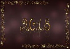 Nieuwe jaar 2018 achtergrond Stock Foto's