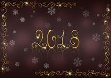 Nieuwe jaar 2018 achtergrond Stock Afbeelding