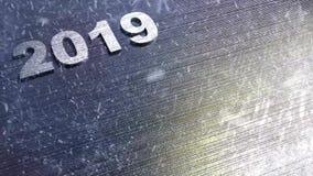 Nieuwe jaar 2019 achtergrond stock illustratie