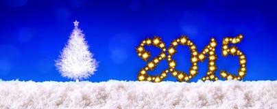 Nieuwe jaar 2015 achtergrond Stock Foto's