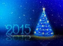 Nieuwe jaar 2015 achtergrond Stock Afbeeldingen