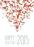Nieuwe jaar 2015 achtergrond Stock Fotografie