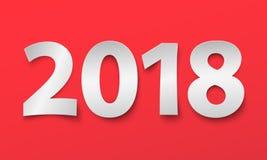 Nieuwe jaar 2018 achtergrond Besnoeiingsdocument Illustratie Royalty-vrije Stock Fotografie